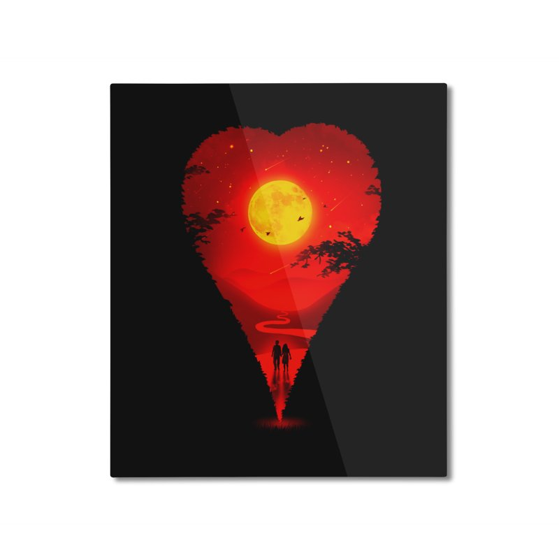 Heart Locator Home Mounted Aluminum Print by nicebleed