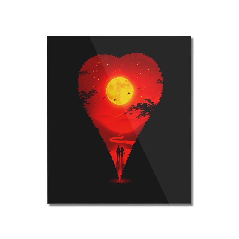 Heart Locator Home Mounted Acrylic Print by nicebleed