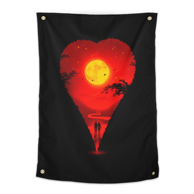 Heart Locator Home Tapestry by nicebleed