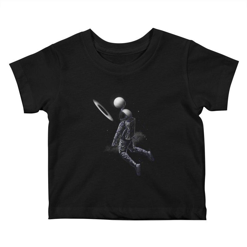 Saturn Dunk Kids Baby T-Shirt by nicebleed