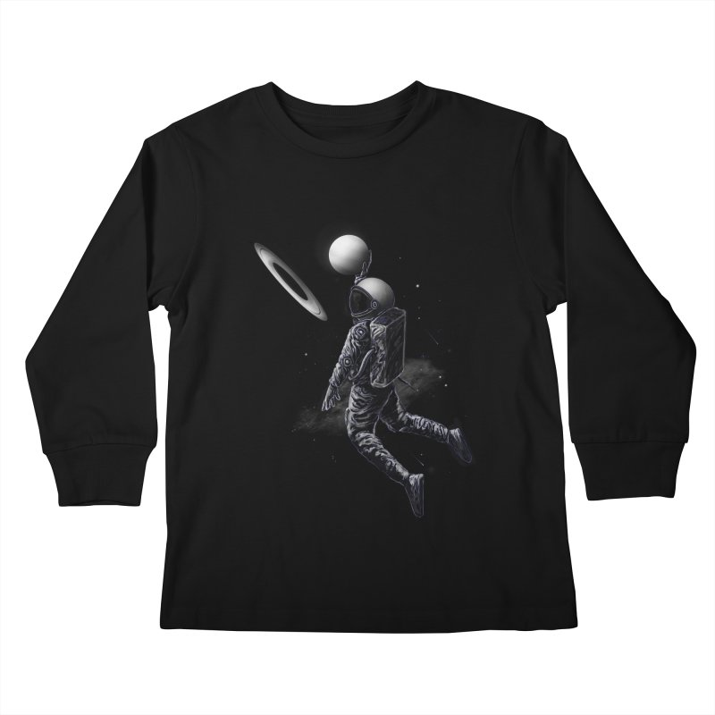 Saturn Dunk Kids Longsleeve T-Shirt by nicebleed