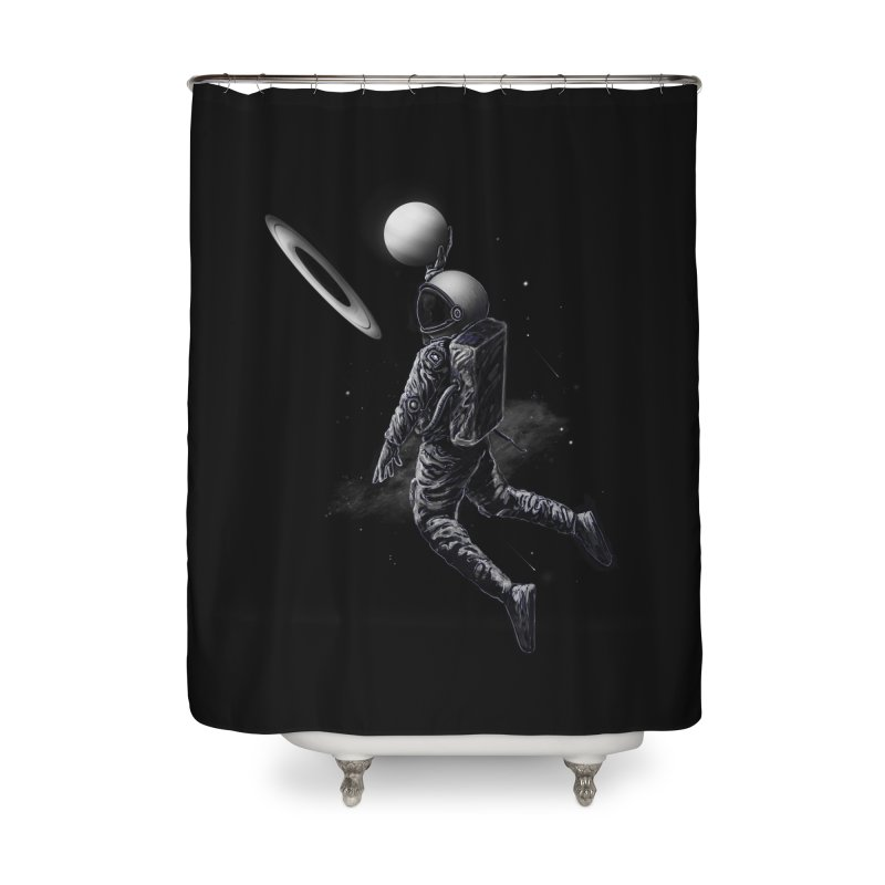 Saturn Dunk Home Shower Curtain by nicebleed