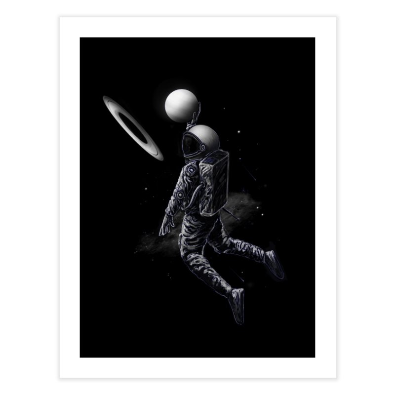 Saturn Dunk Home Fine Art Print by nicebleed