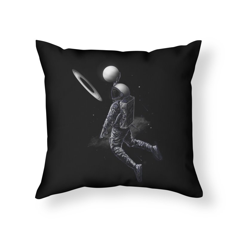 Saturn Dunk Home Throw Pillow by nicebleed