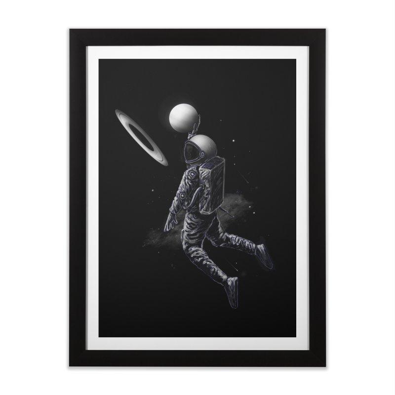 Saturn Dunk Home Framed Fine Art Print by nicebleed