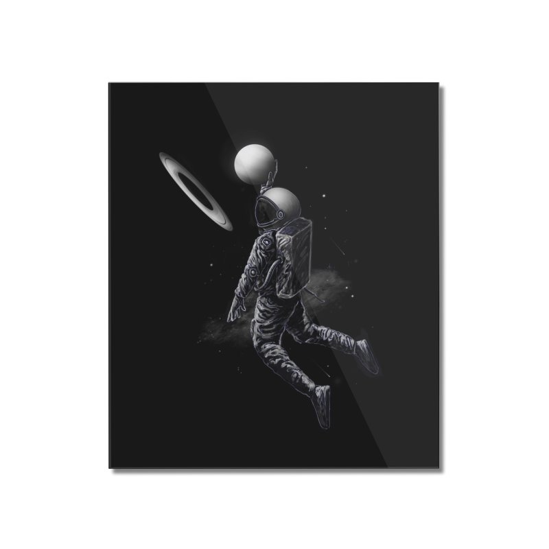 Saturn Dunk Home Mounted Acrylic Print by nicebleed