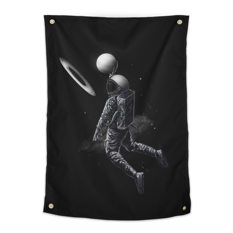 Saturn Dunk Home Tapestry by nicebleed