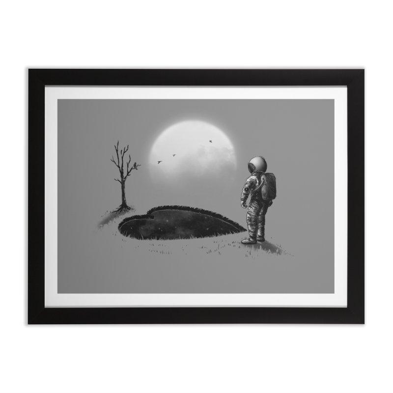 Love Hole Home Framed Fine Art Print by nicebleed