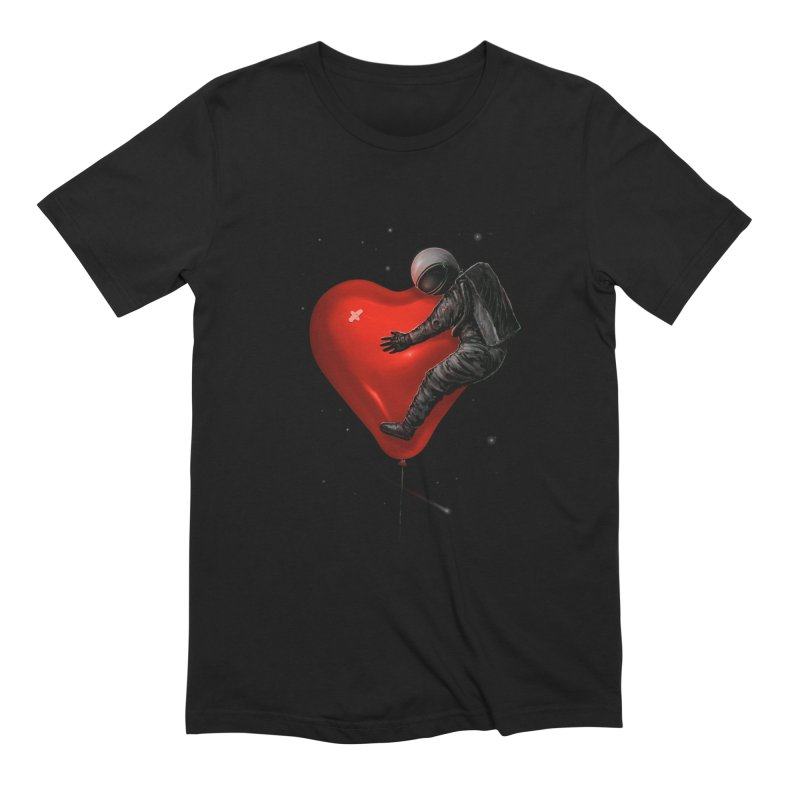 Space Love in Men's Extra Soft T-Shirt Black by nicebleed