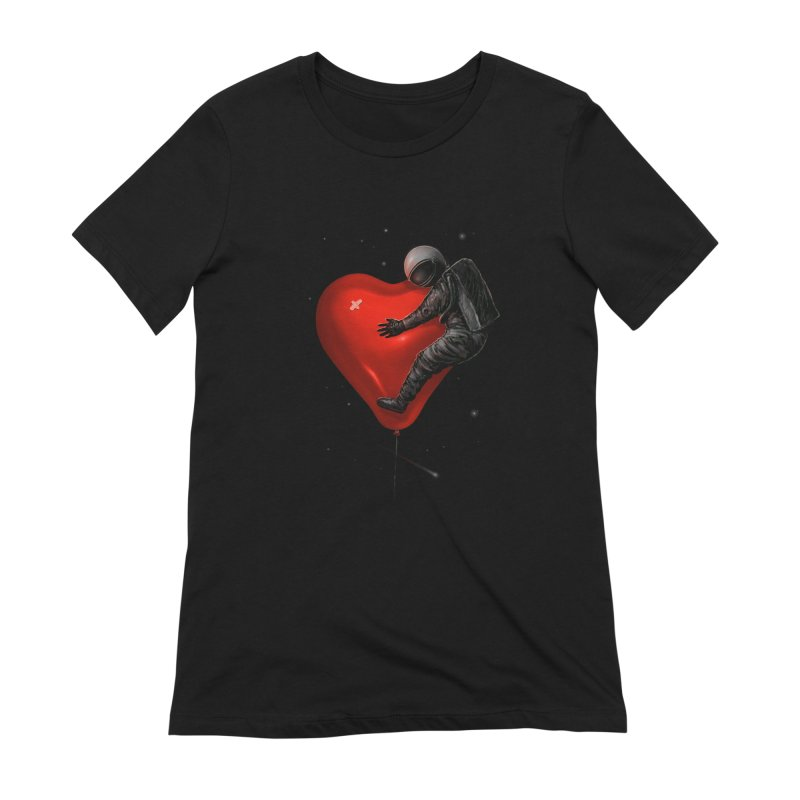 Space Love Women's Extra Soft T-Shirt by nicebleed