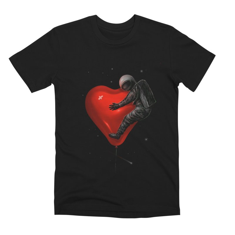 Space Love Men's Premium T-Shirt by nicebleed
