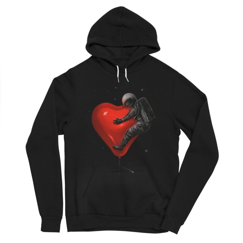Space Love Men's Sponge Fleece Pullover Hoody by nicebleed