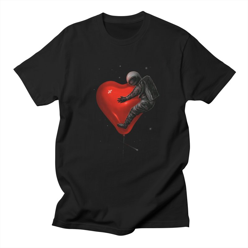 Space Love Men's T-Shirt by nicebleed