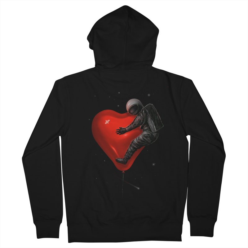 Space Love Women's French Terry Zip-Up Hoody by nicebleed