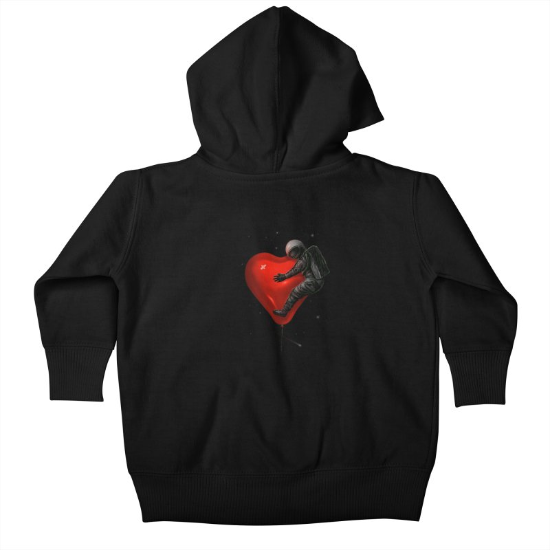 Space Love Kids Baby Zip-Up Hoody by nicebleed