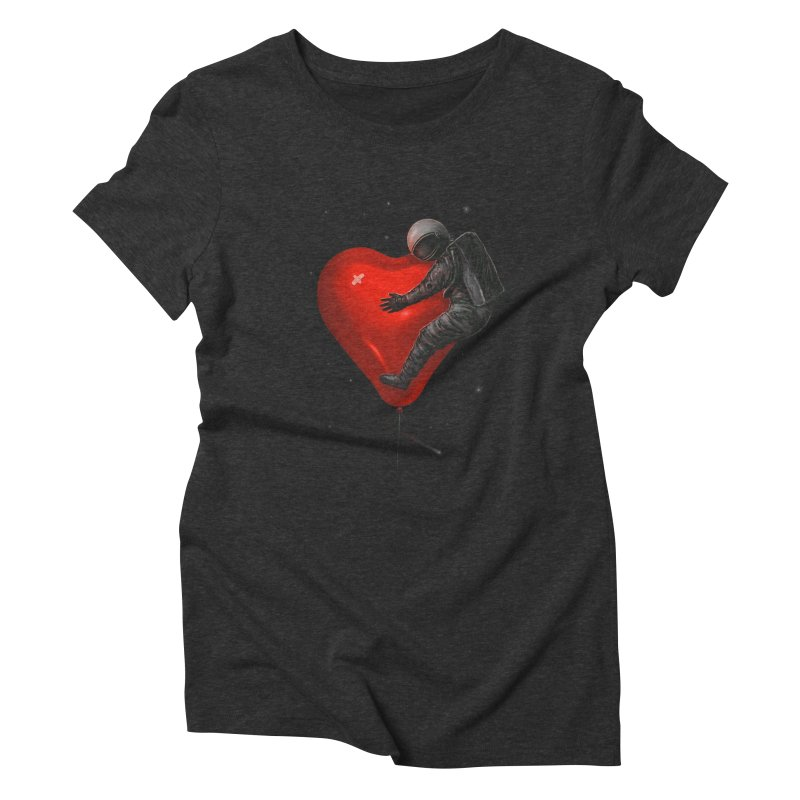 Space Love Women's Triblend T-Shirt by nicebleed