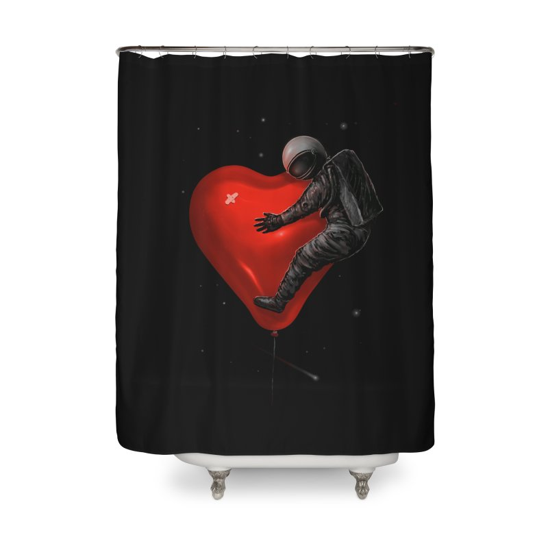 Space Love Home Shower Curtain by nicebleed