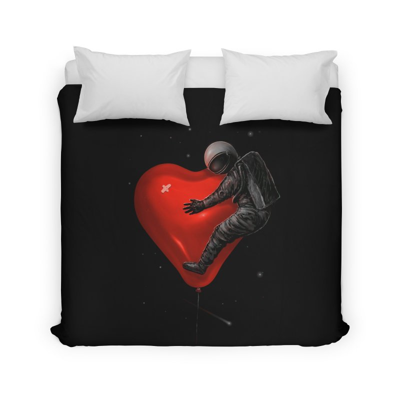 Space Love Home Duvet by nicebleed