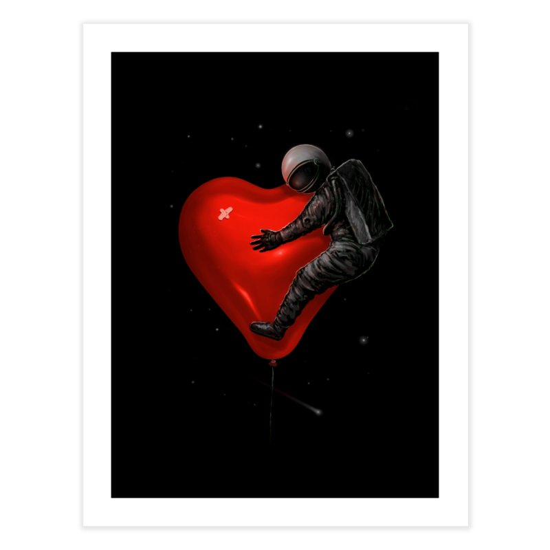 Space Love Home Fine Art Print by nicebleed