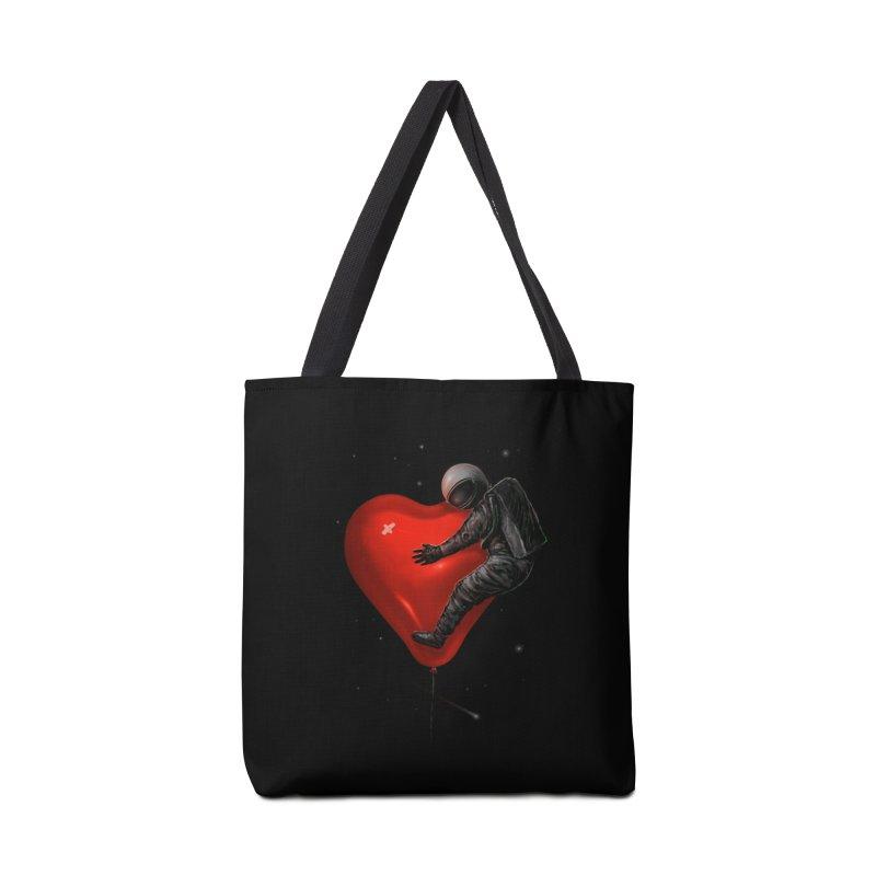Space Love Accessories Tote Bag Bag by nicebleed