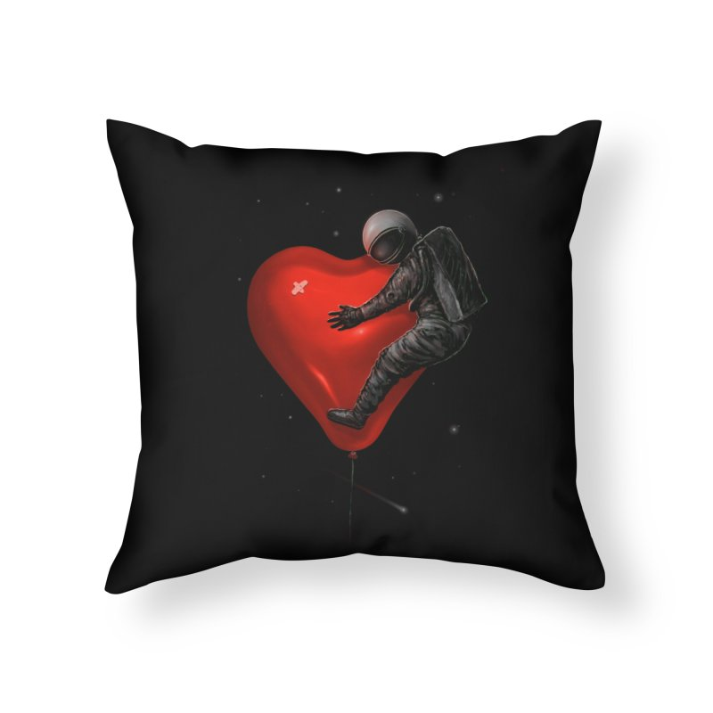 Space Love Home Throw Pillow by nicebleed