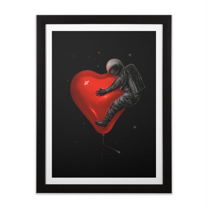 Space Love Home Framed Fine Art Print by nicebleed