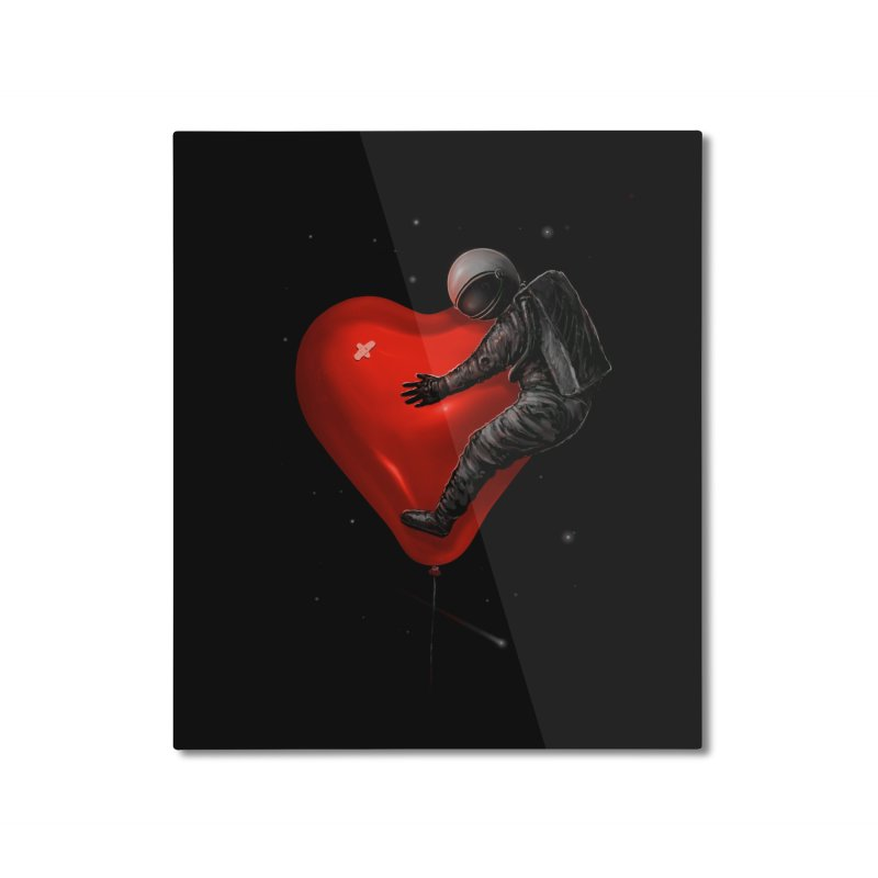 Space Love Home Mounted Aluminum Print by nicebleed