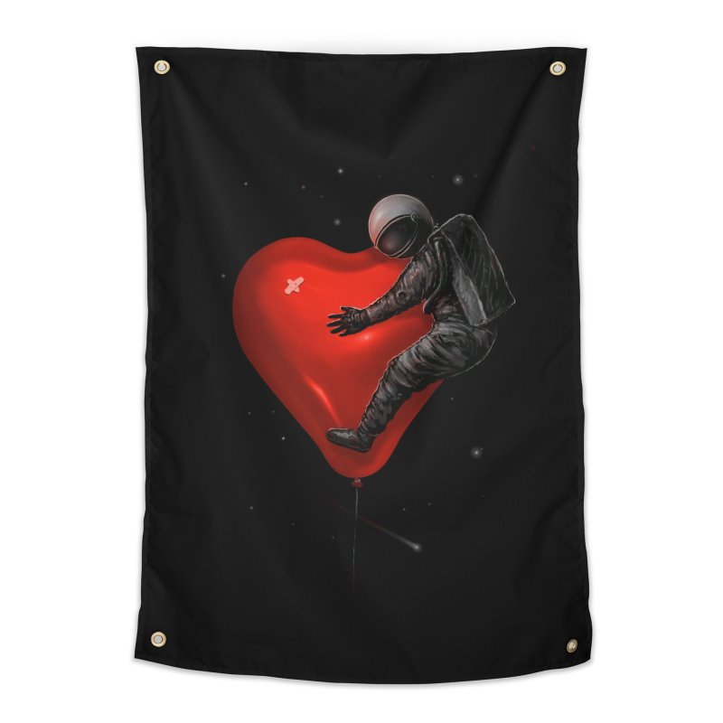 Space Love Home Tapestry by nicebleed