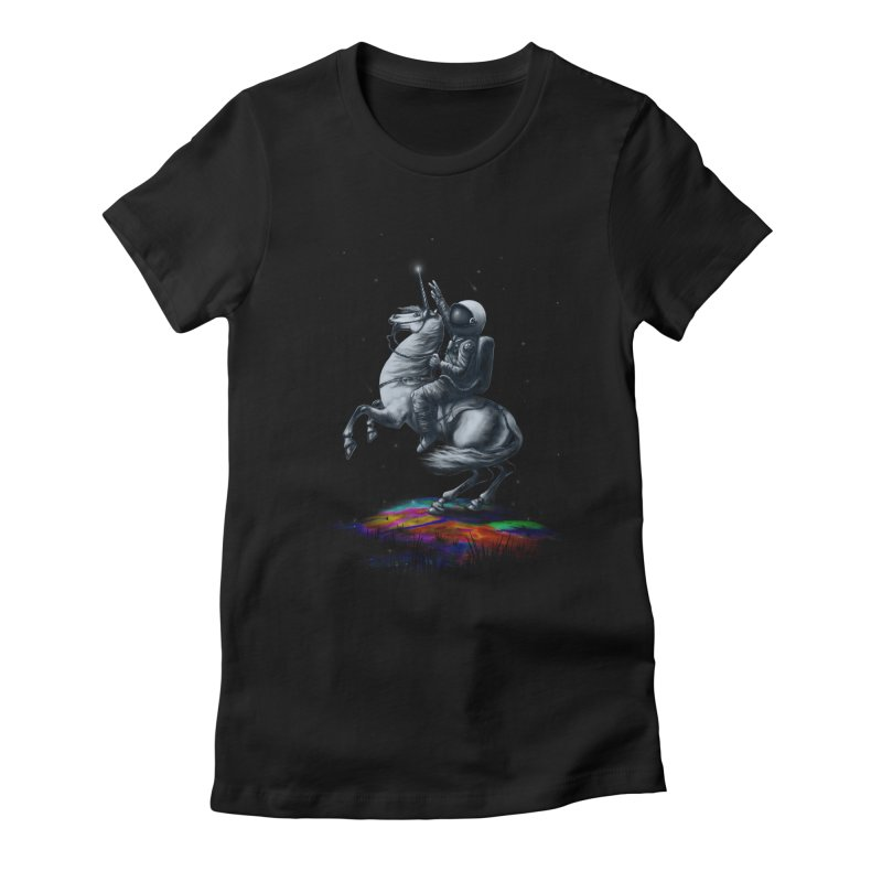 Across The Unicverse Women's Fitted T-Shirt by nicebleed