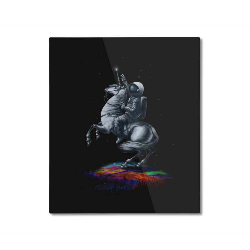 Across The Unicverse Home Mounted Aluminum Print by nicebleed