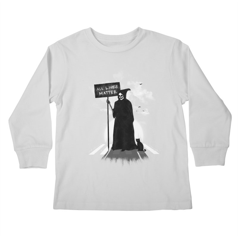 A Death's Revolution Kids Longsleeve T-Shirt by nicebleed