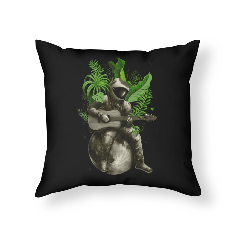 Astropical Strum Home Throw Pillow by nicebleed