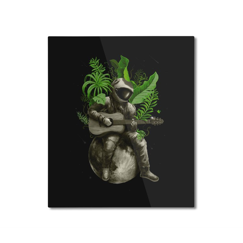 Astropical Strum Home Mounted Aluminum Print by nicebleed