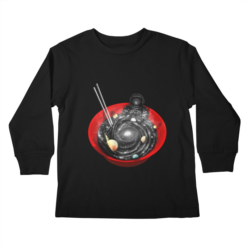Space Ramen Bath Kids Longsleeve T-Shirt by nicebleed