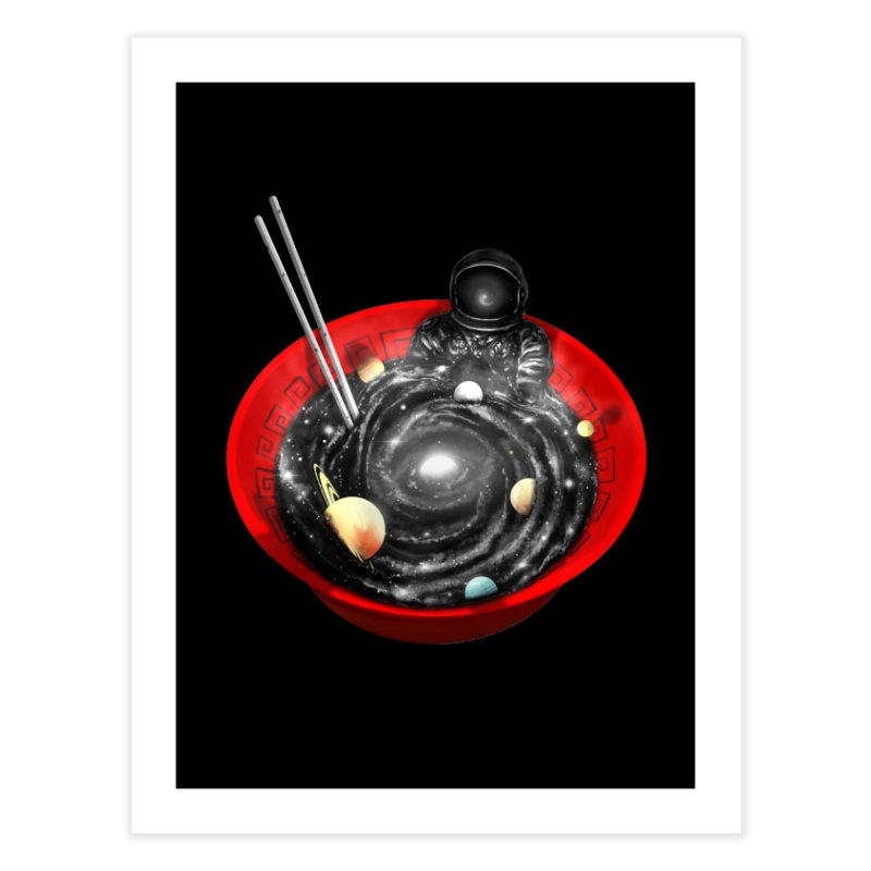Space Ramen Bath Home Fine Art Print by nicebleed