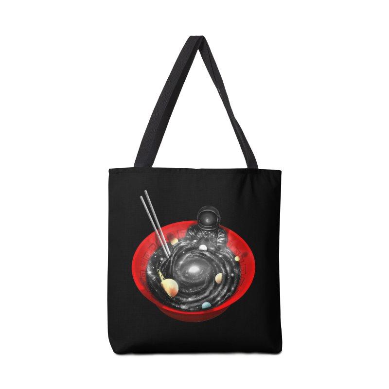 Space Ramen Bath Accessories Tote Bag Bag by nicebleed