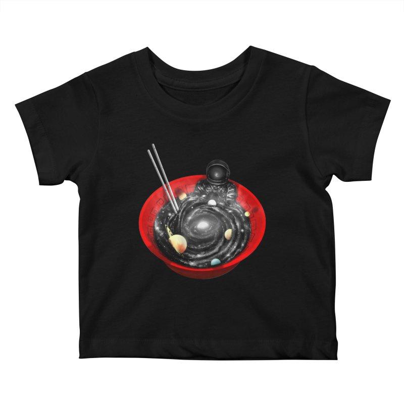 Space Ramen Bath Kids Baby T-Shirt by nicebleed