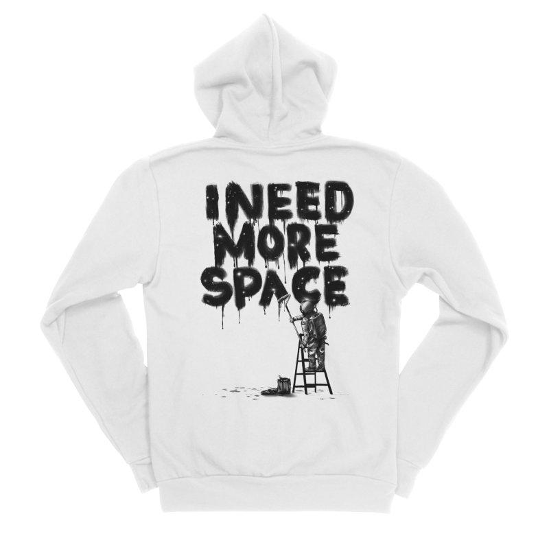 I Need More Space Women's Sponge Fleece Zip-Up Hoody by nicebleed
