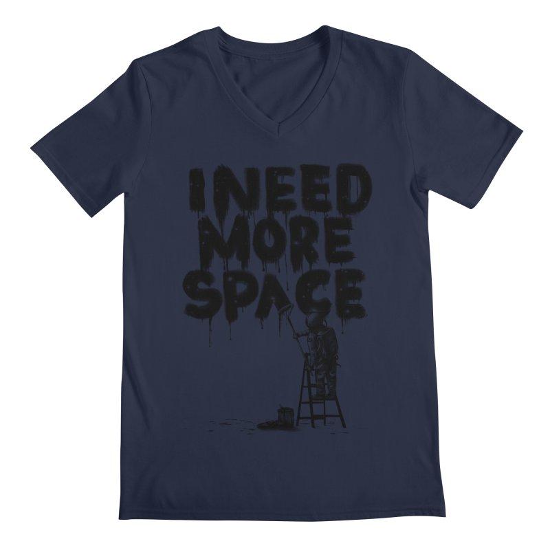 I Need More Space Men's Regular V-Neck by nicebleed
