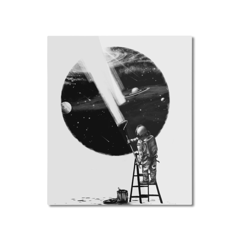 I Need More Space Home Mounted Aluminum Print by nicebleed