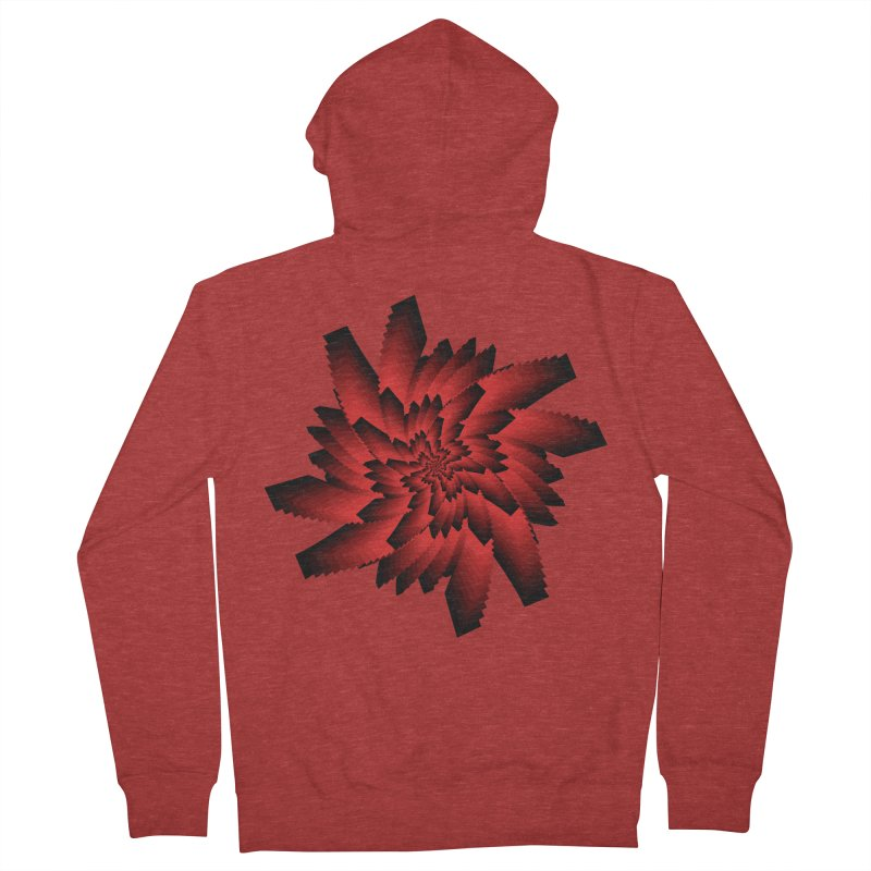 Into the Red Eye Men's French Terry Zip-Up Hoody by nickaker's Artist Shop