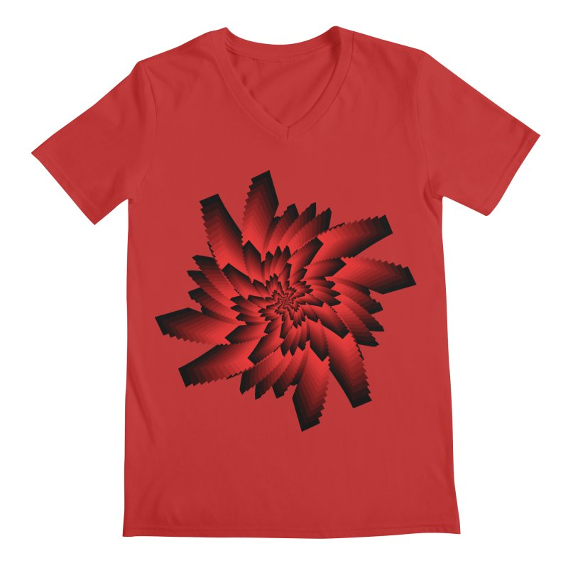 Into the Red Eye Men's V-Neck by nickaker's Artist Shop