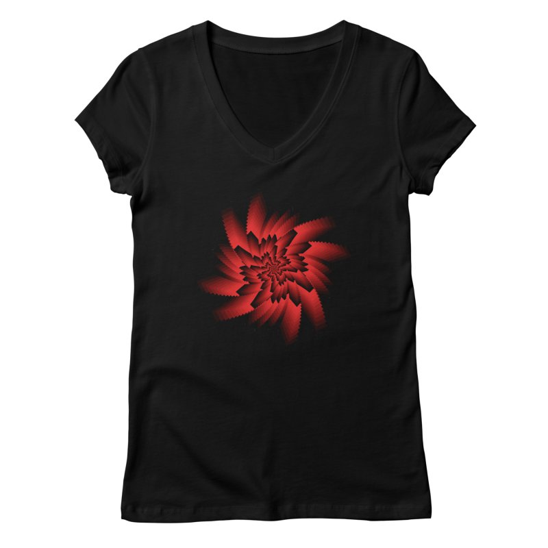 Into the Red Eye Women's V-Neck by nickaker's Artist Shop