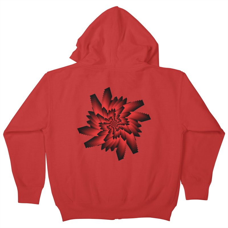 Into the Red Eye Kids Zip-Up Hoody by nickaker's Artist Shop
