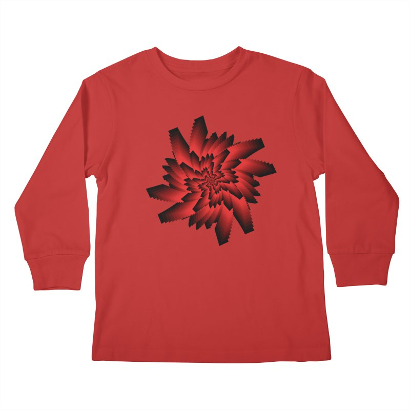 Into the Red Eye Kids Longsleeve T-Shirt by nickaker's Artist Shop