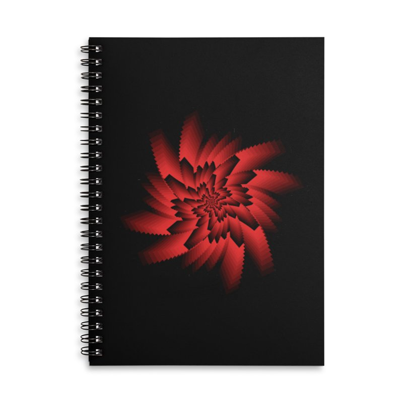 Into the Red Eye Accessories Lined Spiral Notebook by nickaker's Artist Shop