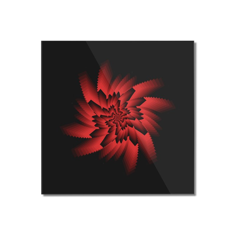 Into the Red Eye Home Mounted Acrylic Print by nickaker's Artist Shop