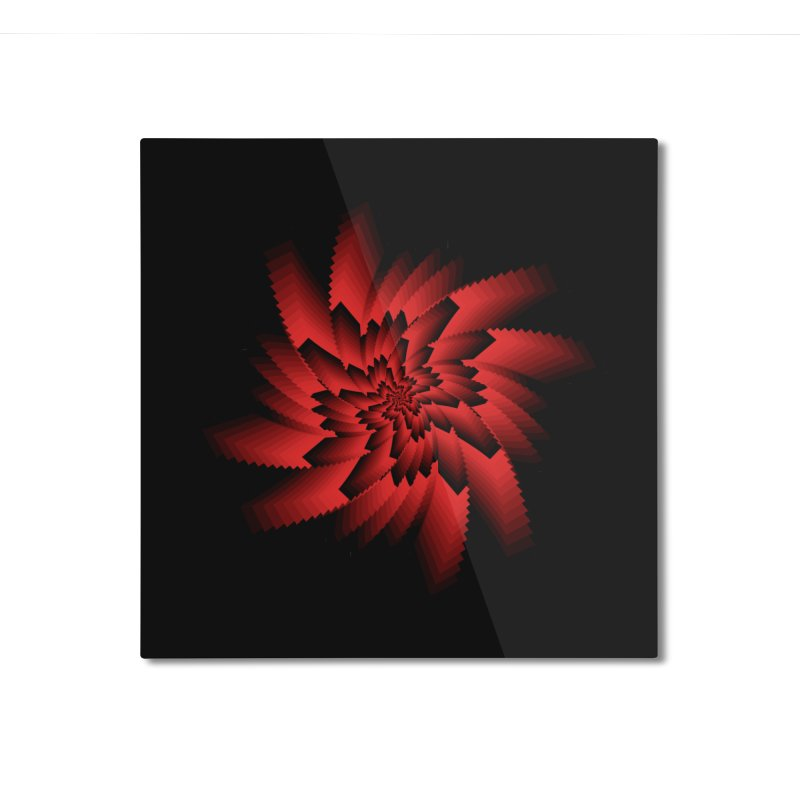 Into the Red Eye Home Mounted Aluminum Print by nickaker's Artist Shop