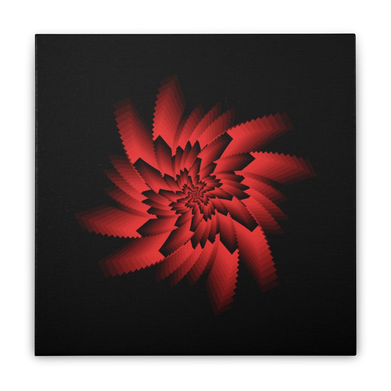 Into the Red Eye Home Stretched Canvas by nickaker's Artist Shop