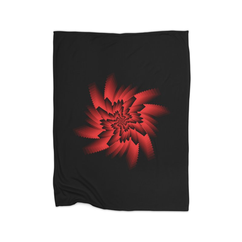Into the Red Eye Home Fleece Blanket Blanket by nickaker's Artist Shop
